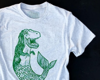 MerDino  //  Adult Crew T-shirt