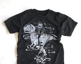 Galactic Raptor  //  Kid's Crew Neck