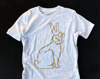 Peace Bunny  //  Kid's Crew Neck
