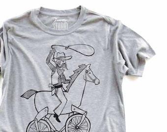 Lasso-stache  //  Adult Crew T-shirt