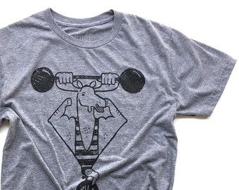 Flex your Mooscles  //  Adult Crew T-shirt