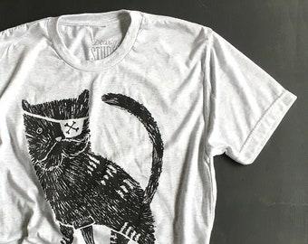 Pirate Kitty   //  Adult Crew T-shirt