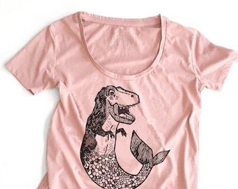Mer Dino //  Ladies Hi-Low Tee