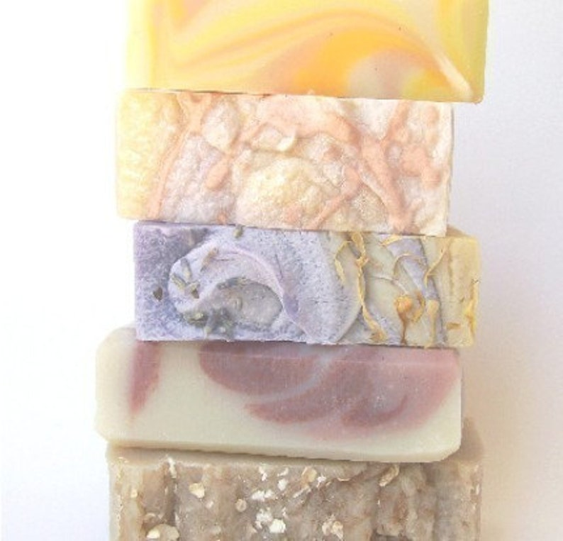 3 pack Soaps  flat rate shipping Handmade Hot-Process soaps image 0