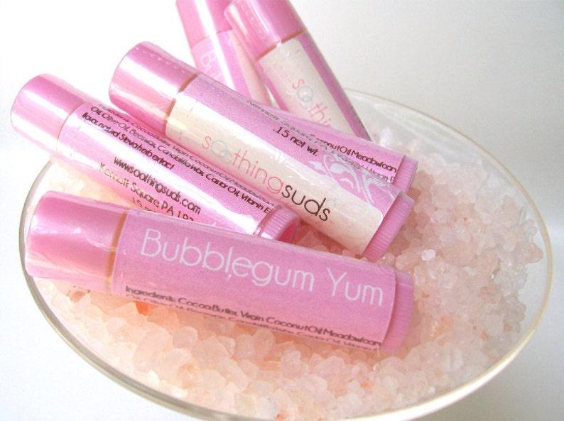Bubblegum Yum  handmade Lip Balm by Soothing Suds Soap image 0