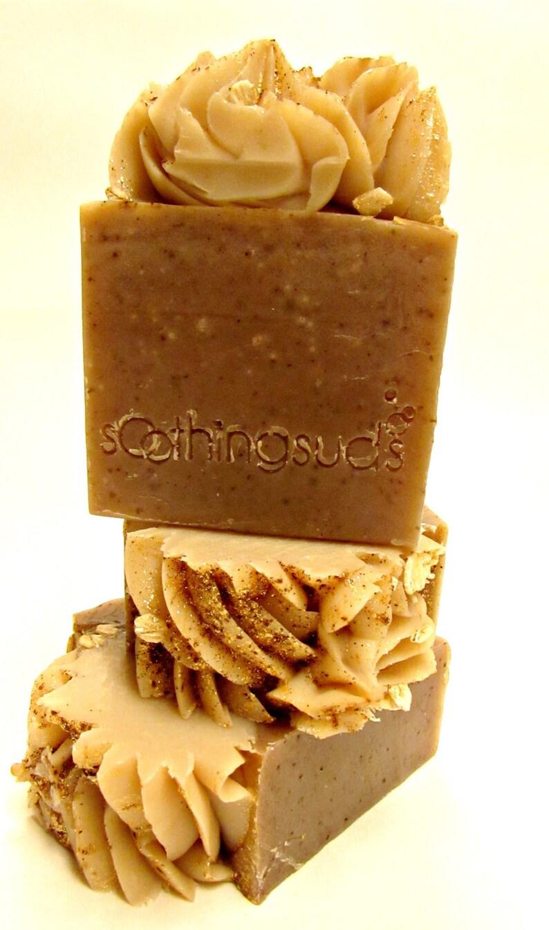 Oatmeal Milk and Honey  Handmade SILK & Shea Butter soap image 0