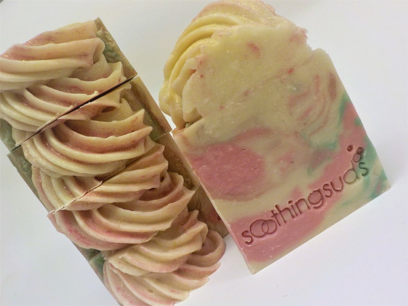 Sweet Red Clover  Handmade Olive Oil & Tussah Silk Soap 6oz image 0