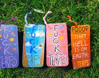 F*ck TERFs Bookmark | Anti TERF Bookmarks