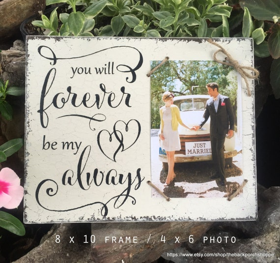 Wedding Picture Frame Wedding Signs Bride And Groom Gift Etsy