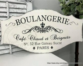 BOULANGERIE | French Signs | Kitchen Signs | French Bakery 27 x 14