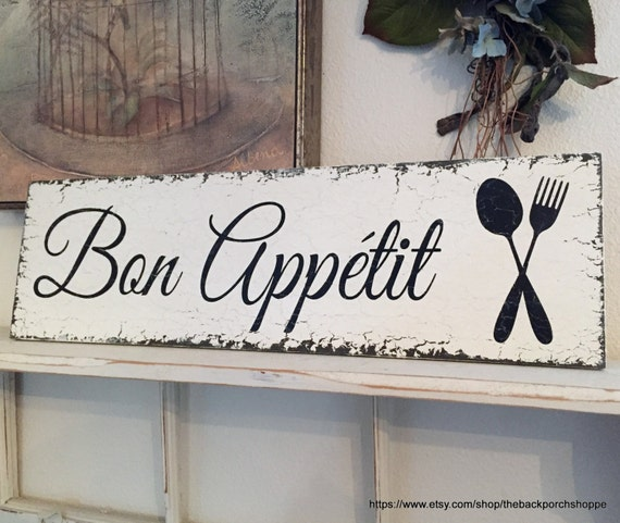 bon appetit french signs kitchen signs bon appetit signs rh etsy com  bon appetit signs for kitchen uk