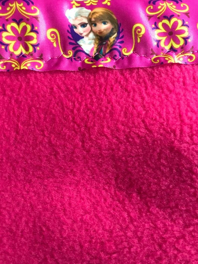 Pink Fleece Pillowcase with Frozen Satin