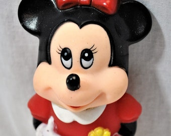 Minnie Mouse Bubble Bottle, 1986 Tootsie Toy, The Walt Disney Company