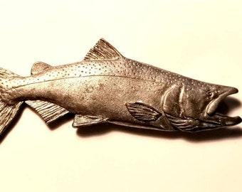 Harris pewter trout pin small  USA hat lapel fish