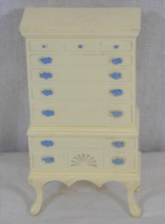 Ideal Highboy Dresser Vintage Dollhouse Furniture Miniature Etsy