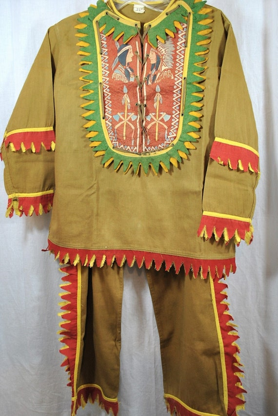 Vintage Child's Native American Indian Costume 193