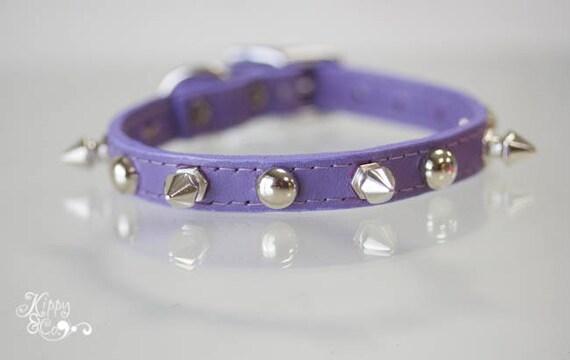 Petit collier pour chien, collier petit chien, furet collier, collier Chihuahua, Ferret cadeau, collier Chihuahua, petits animaux de compagnie, chien Spike, pointes