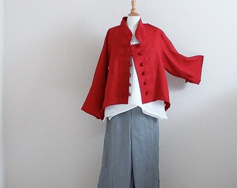 custom linen jacket, top, pants - linen outfit