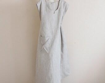 plus size calla lily asymmetrical linen dress