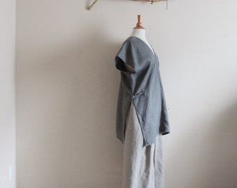 custom perfect summer linen outfit ao-dai split top and gaucho pants