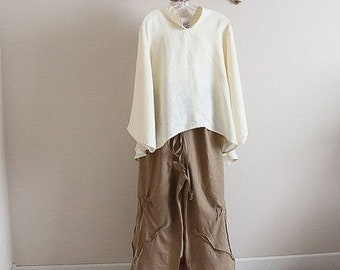 linen outfit blouse and pants custom listing
