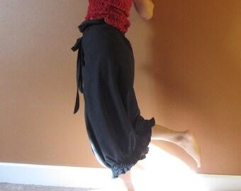 uffle gopher wrap pants romper