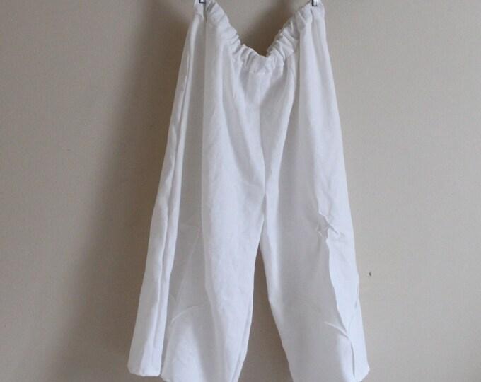 plus size linen rose tucks super wide leg pants / custom crotch length / custom length / custom pants for plus size