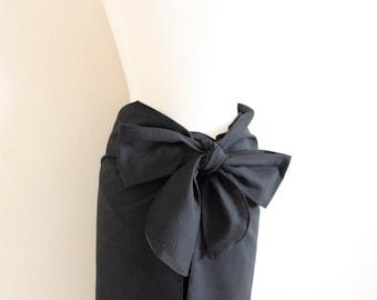 made to order obi waist cotton wrap pants