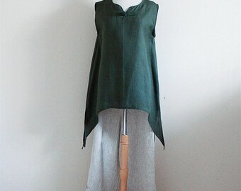 linen outfit swallow top and peasant pants custom listing