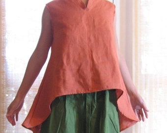 linen wavy top made to order