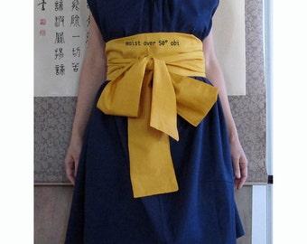plus size extra long cotton obi sashes