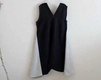 black pebble linen sparrow tunic dress ready to wear size XL