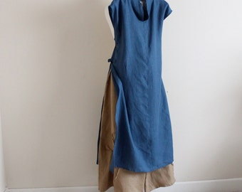 custom linen outfit ao dai and pants