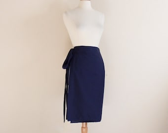 Free US shipping simple wrap cotton skirt