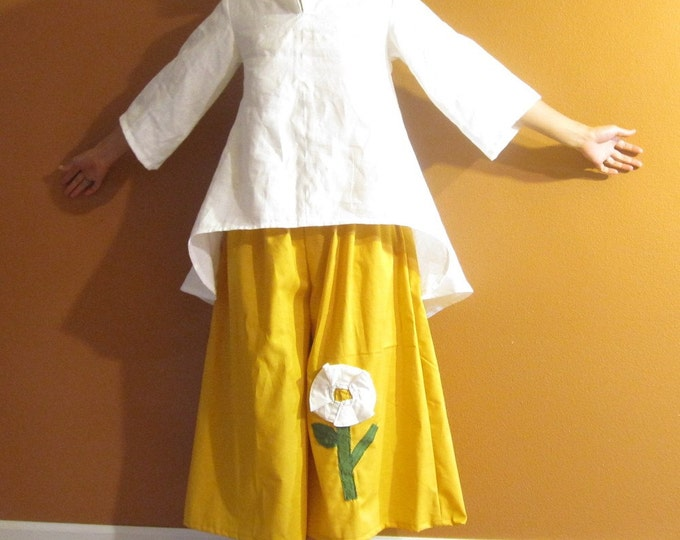 custom linen simplicity wavy top / made to order for all sizes / linen blouse / white linen blouse / linen wedding blouse / Asian linen top