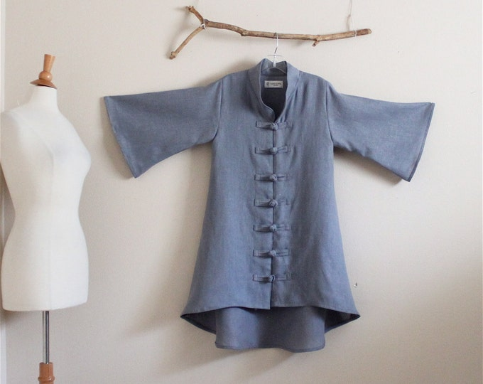 size XS to 5XL and up custom heavy linen jacket