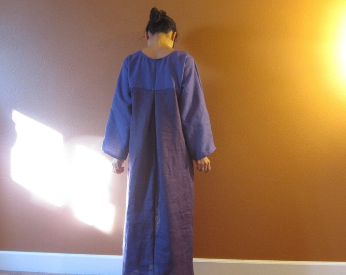 linen two shades dolly hanbok inspired dress / indie handmade fashion / green your wardrobe / biodegradable clothing / eco friendly process