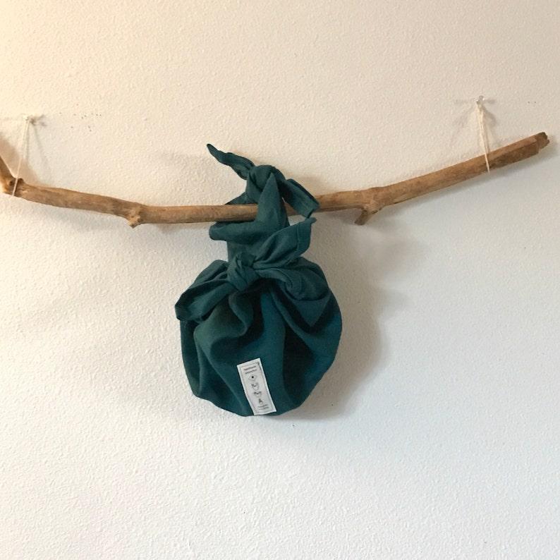 8e40727777 Lake green linen furoshiki wrap bag