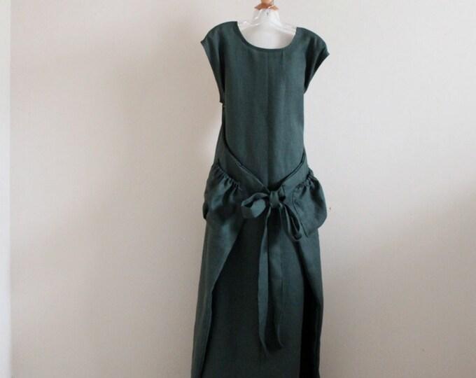 custom linen flutter dress made to fit listing / linen dress / maxi dress / custom size and color linen dress / plus size / petite