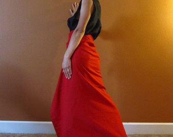 Simple wrap cotton skirt made to order / women skirt / wrap skirt / cotton skirt / pencil shape skirt / plus size / petite / wide wrap skirt