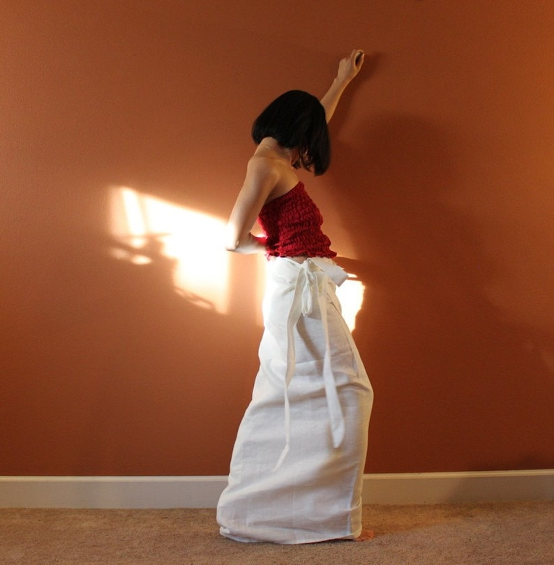 simple linen wrap skirt made to order