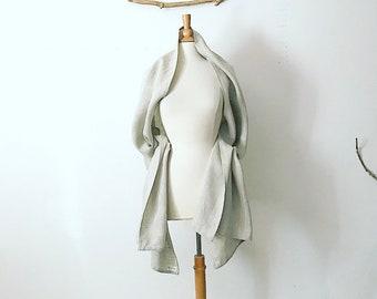 pebble linen wrap shawl  ready to wear/ wedding shawl / eco friendly scarf /