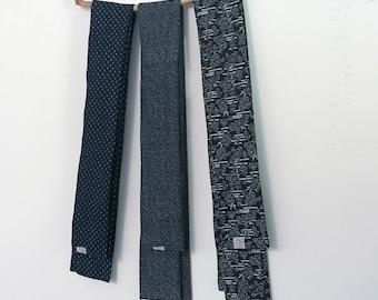 ready yo ship Japanese motif homespun cotton obi sash