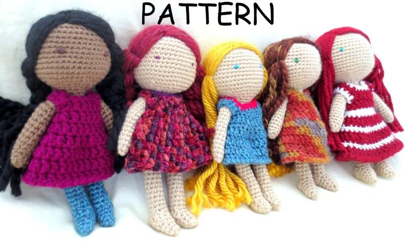 On Sale Crochet Doll Pattern Amigurumi Doll Pattern Crochet Etsy