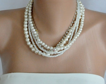 Clothing Gift, Pearl Necklace Bridesmaids Gifts