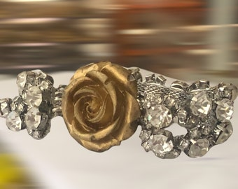 Vintage Inspired 2 Strands Rhinestone Bracelet