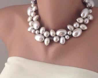 Weddings Brides pearl necklace. Bridesmaids gifts