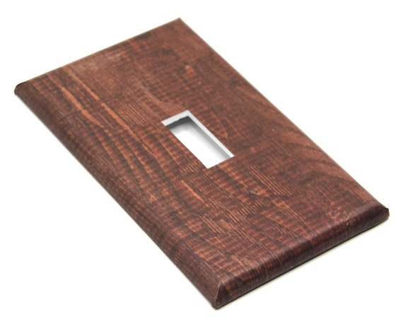 Faux Wood Paneling Pattern Light Switch and Outlet Cover