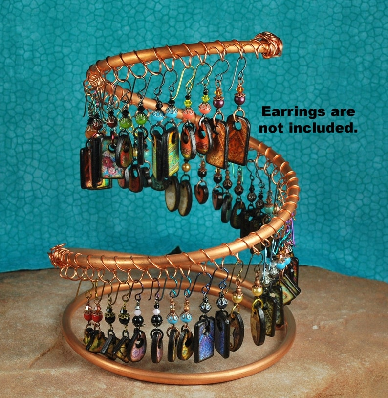 Spiral Copper Earring Holder Earring Display Jewelry image 1