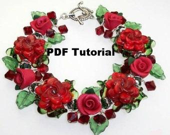 Bracelet Tutorial, Scarlet Rose Bracelet Tutorial SRA 189 by CC Design
